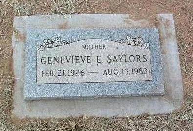 SAYLORS, GENEVIEVE - Yavapai County, Arizona | GENEVIEVE SAYLORS - Arizona Gravestone Photos