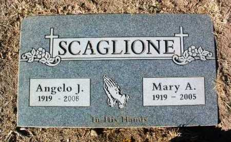 SCAGLIONE, MARY ANGELINE - Yavapai County, Arizona | MARY ANGELINE SCAGLIONE - Arizona Gravestone Photos