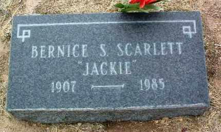 STRINGFIELD SCARLETT, BERNICE S. (JACKIE) - Yavapai County, Arizona | BERNICE S. (JACKIE) STRINGFIELD SCARLETT - Arizona Gravestone Photos