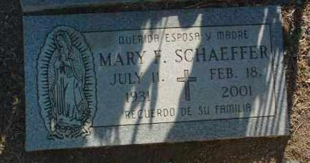 SCHAEFFER, MARY F. - Yavapai County, Arizona | MARY F. SCHAEFFER - Arizona Gravestone Photos