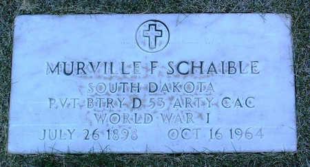 SCHAIBLE, MURVILLE  F. - Yavapai County, Arizona   MURVILLE  F. SCHAIBLE - Arizona Gravestone Photos