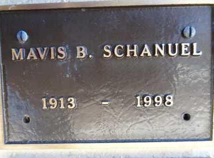 SCHANUEL, MAVIS B. - Yavapai County, Arizona | MAVIS B. SCHANUEL - Arizona Gravestone Photos