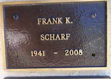 SCHARF, FRANK KURTZ - Yavapai County, Arizona   FRANK KURTZ SCHARF - Arizona Gravestone Photos