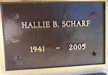 SCHARF, HALLIE B. - Yavapai County, Arizona | HALLIE B. SCHARF - Arizona Gravestone Photos