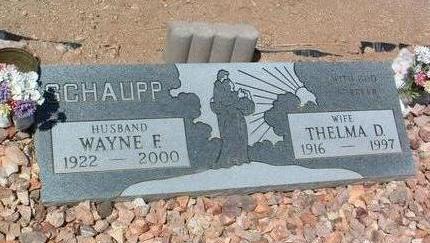 SCHAUPP, THELMA D. - Yavapai County, Arizona | THELMA D. SCHAUPP - Arizona Gravestone Photos