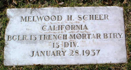 SCHEER, MELWOOD H. - Yavapai County, Arizona | MELWOOD H. SCHEER - Arizona Gravestone Photos