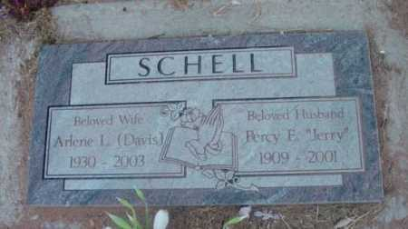 SCHELL, PERCY EDWARD (JERRY) - Yavapai County, Arizona | PERCY EDWARD (JERRY) SCHELL - Arizona Gravestone Photos