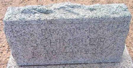 SCHINDLER, FRANK F. - Yavapai County, Arizona   FRANK F. SCHINDLER - Arizona Gravestone Photos
