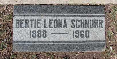 SCHNURR, BERTIE LEONA - Yavapai County, Arizona | BERTIE LEONA SCHNURR - Arizona Gravestone Photos