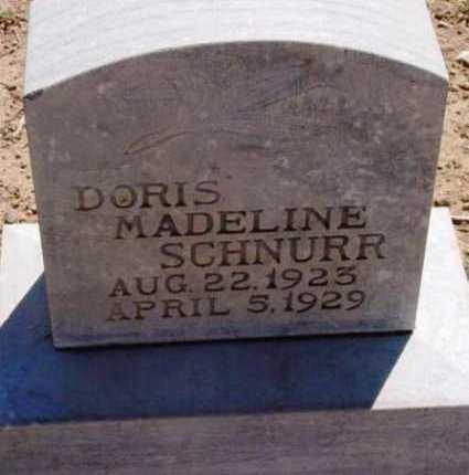 SCHNURR, DORIS MADELINE - Yavapai County, Arizona   DORIS MADELINE SCHNURR - Arizona Gravestone Photos