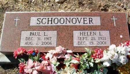 SCHOONOVER, PAUL LESTER - Yavapai County, Arizona | PAUL LESTER SCHOONOVER - Arizona Gravestone Photos