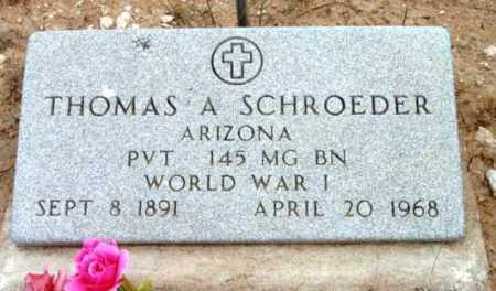 SCHROEDER, THOMAS A. - Yavapai County, Arizona | THOMAS A. SCHROEDER - Arizona Gravestone Photos