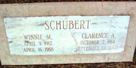 SCHUBERT, WINNIE M. - Yavapai County, Arizona | WINNIE M. SCHUBERT - Arizona Gravestone Photos