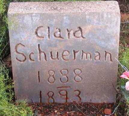 SCHUERMAN, CLARA - Yavapai County, Arizona | CLARA SCHUERMAN - Arizona Gravestone Photos