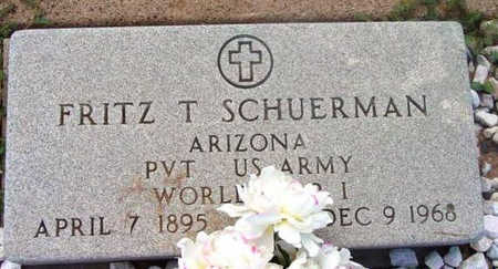 SCHUERMAN, FRITZ THEO. - Yavapai County, Arizona   FRITZ THEO. SCHUERMAN - Arizona Gravestone Photos