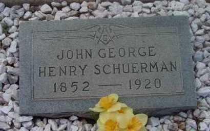 SCHUERMAN, JOHN GEORGE - Yavapai County, Arizona | JOHN GEORGE SCHUERMAN - Arizona Gravestone Photos