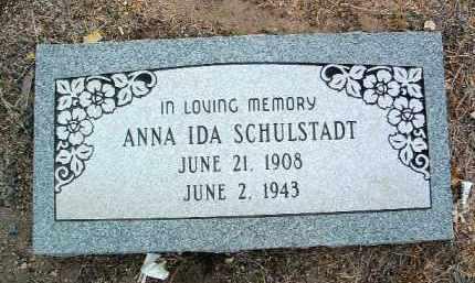 SCHULSTADT, ANNA IDA - Yavapai County, Arizona   ANNA IDA SCHULSTADT - Arizona Gravestone Photos