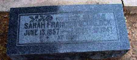 SCURLOCK, SARAH FRANCES - Yavapai County, Arizona | SARAH FRANCES SCURLOCK - Arizona Gravestone Photos