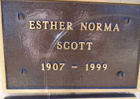 SCOTT, ESTHER NORMA - Yavapai County, Arizona | ESTHER NORMA SCOTT - Arizona Gravestone Photos