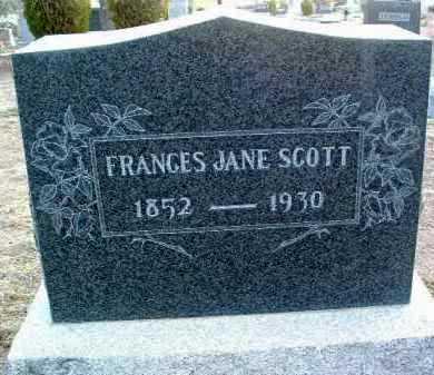 SCOTT, FRANCES JANE - Yavapai County, Arizona | FRANCES JANE SCOTT - Arizona Gravestone Photos