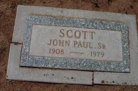SCOTT, JOHN PAUL, SR. - Yavapai County, Arizona   JOHN PAUL, SR. SCOTT - Arizona Gravestone Photos