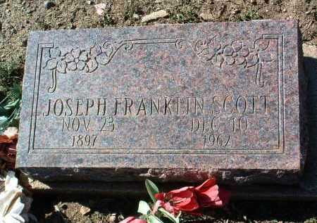 SCOTT, JOSEPH FRANKLIN - Yavapai County, Arizona | JOSEPH FRANKLIN SCOTT - Arizona Gravestone Photos