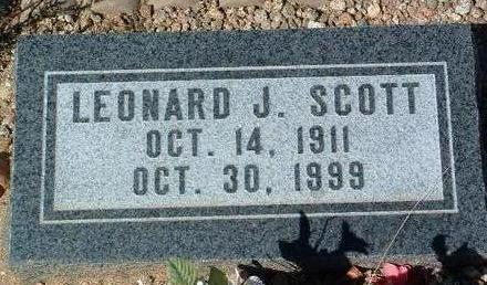 SCOTT, LEONARD J. - Yavapai County, Arizona | LEONARD J. SCOTT - Arizona Gravestone Photos