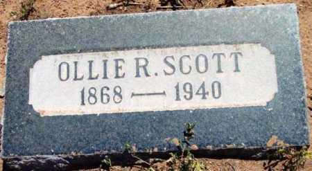 SCOTT, OLLIE R. - Yavapai County, Arizona   OLLIE R. SCOTT - Arizona Gravestone Photos