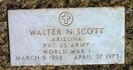 SCOTT, WALTER N. - Yavapai County, Arizona   WALTER N. SCOTT - Arizona Gravestone Photos