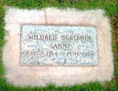SCRIBNER, MILDRED  (ANN) - Yavapai County, Arizona | MILDRED  (ANN) SCRIBNER - Arizona Gravestone Photos