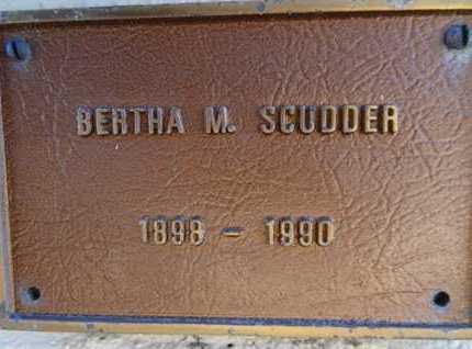 SCUDDER, BERTHA M. - Yavapai County, Arizona | BERTHA M. SCUDDER - Arizona Gravestone Photos