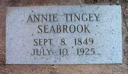 SEABROOK, ANNIE TINGEY - Yavapai County, Arizona   ANNIE TINGEY SEABROOK - Arizona Gravestone Photos
