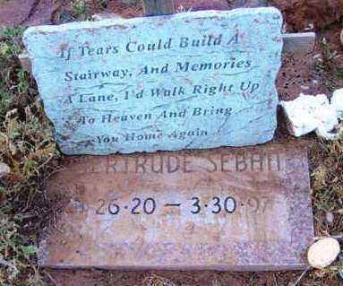 SEBAN, GERTRUDE - Yavapai County, Arizona   GERTRUDE SEBAN - Arizona Gravestone Photos