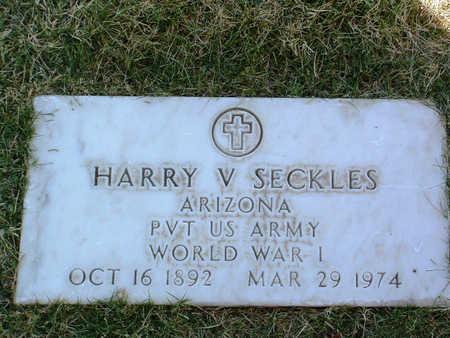 SECKLES, HARRY V. - Yavapai County, Arizona | HARRY V. SECKLES - Arizona Gravestone Photos
