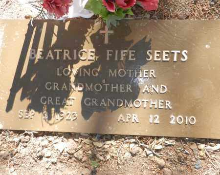 FIFE SEETS, BEATRICE - Yavapai County, Arizona | BEATRICE FIFE SEETS - Arizona Gravestone Photos