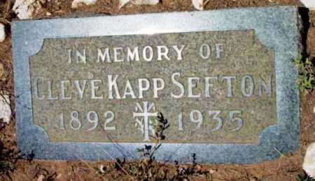 SEFTON, CLEVE KAPP - Yavapai County, Arizona | CLEVE KAPP SEFTON - Arizona Gravestone Photos