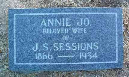 SESSIONS, ANNIE JOSEPHINE (JO) - Yavapai County, Arizona | ANNIE JOSEPHINE (JO) SESSIONS - Arizona Gravestone Photos