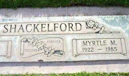SHACKELFORD, MYRTLE MAY - Yavapai County, Arizona | MYRTLE MAY SHACKELFORD - Arizona Gravestone Photos