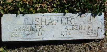 SHAFER, ALBERT M. - Yavapai County, Arizona | ALBERT M. SHAFER - Arizona Gravestone Photos