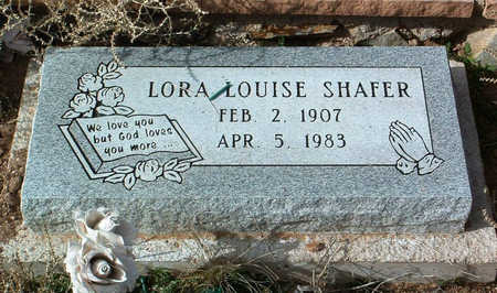 SHAFER, LORA LOUISE - Yavapai County, Arizona | LORA LOUISE SHAFER - Arizona Gravestone Photos
