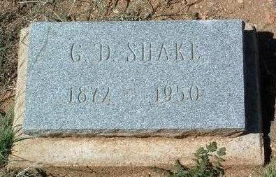 SHAKE, GEORGE DAVID - Yavapai County, Arizona   GEORGE DAVID SHAKE - Arizona Gravestone Photos