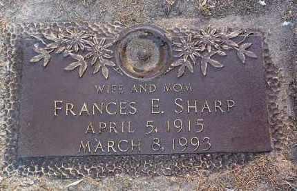 SHARP, FRANCES E. - Yavapai County, Arizona | FRANCES E. SHARP - Arizona Gravestone Photos