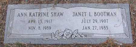 SHAW, ANN KATRINE - Yavapai County, Arizona | ANN KATRINE SHAW - Arizona Gravestone Photos