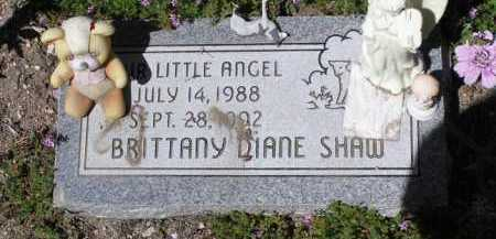 SHAW, BRITTANY DIANE - Yavapai County, Arizona | BRITTANY DIANE SHAW - Arizona Gravestone Photos