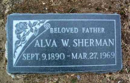 SHERMAN, ALVA WALLACE - Yavapai County, Arizona | ALVA WALLACE SHERMAN - Arizona Gravestone Photos