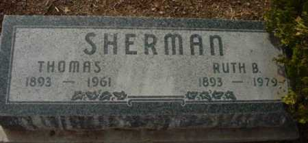 SHERMAN, THOMAS - Yavapai County, Arizona | THOMAS SHERMAN - Arizona Gravestone Photos