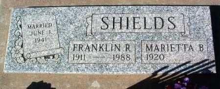 SHIELDS, FRANKLIN RIGGS - Yavapai County, Arizona   FRANKLIN RIGGS SHIELDS - Arizona Gravestone Photos