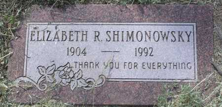 SHIMONOWSKY, ELIZABETH - Yavapai County, Arizona   ELIZABETH SHIMONOWSKY - Arizona Gravestone Photos