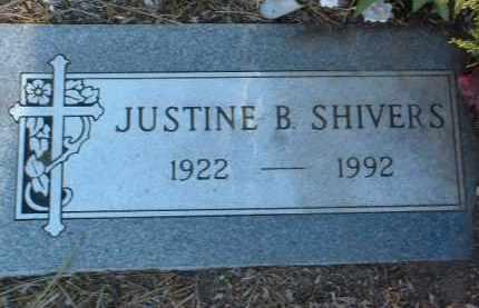 SHIVERS, JUSTINE BURDETTE - Yavapai County, Arizona | JUSTINE BURDETTE SHIVERS - Arizona Gravestone Photos