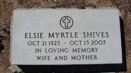 SHIVES, ELSIE MYRTLE - Yavapai County, Arizona | ELSIE MYRTLE SHIVES - Arizona Gravestone Photos